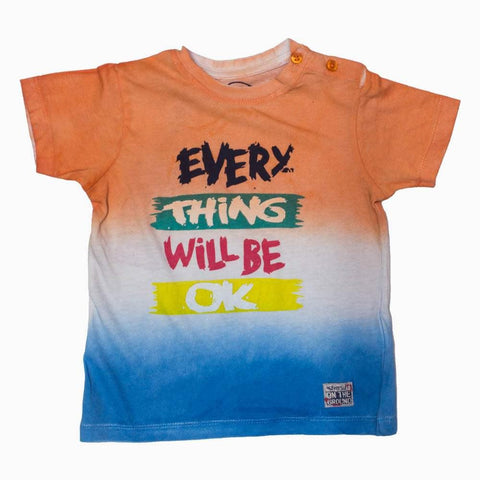 SILVERSUN Every thing OK Orange Shades Boys Tshirt