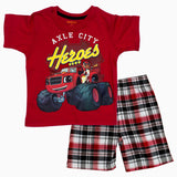 Axle Heroes Boys Red 2 Piece Set