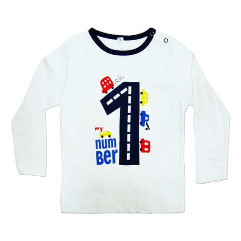 Number One Cars Cotton Night Tshirt