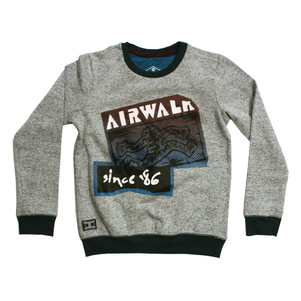 AIRWALK Premium Cotton Fleece Grey Sweat Shirt
