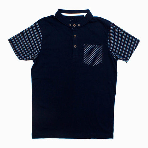 Next Cut Label Front Pocket and Sleeve Pattern Boys Polo