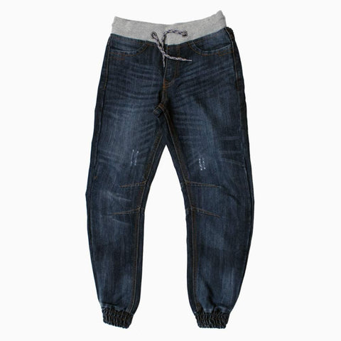 Denim and Co Boys Stretch waistband buttoned Jeans