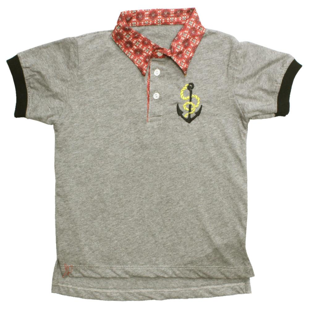 CHICOO Heather Grey Boys Premium Cotton Jersey Polo