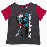 Monster high Think Wild Girls Contrst Shoulder Girls Tshirt
