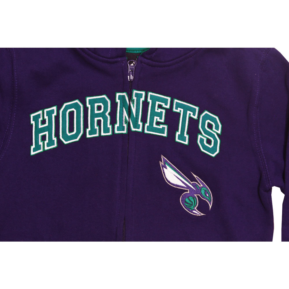 ADIDAS Hornets Bee Embroidery  Dark Purple Unisex Cotton Hoodies