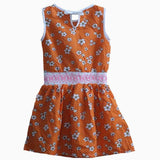 Carters white flower white waistband orange Dress
