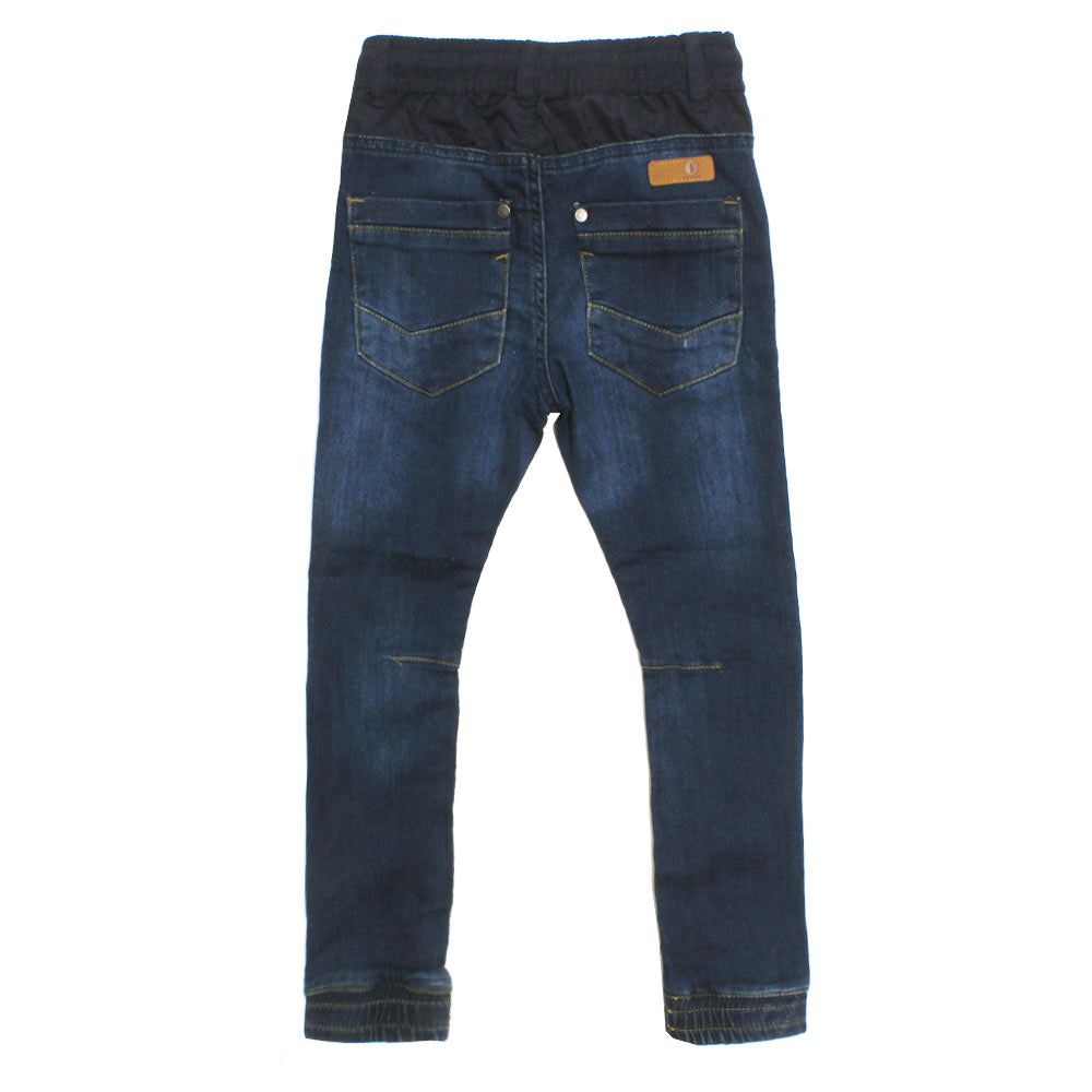 POMP DE LUX  Polyester Stylish Blue Boys Denim Jeans