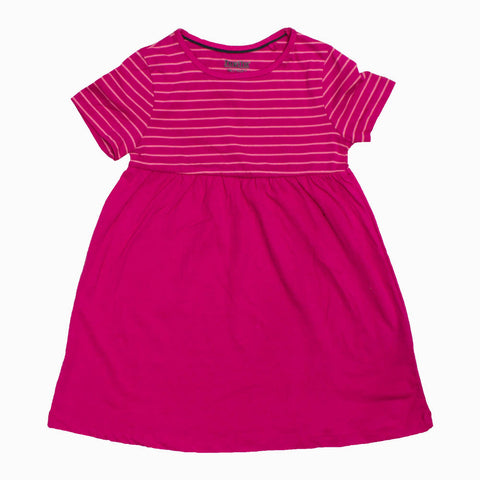 Lupilu Girls Stripes Preium Cotton Pink Dress