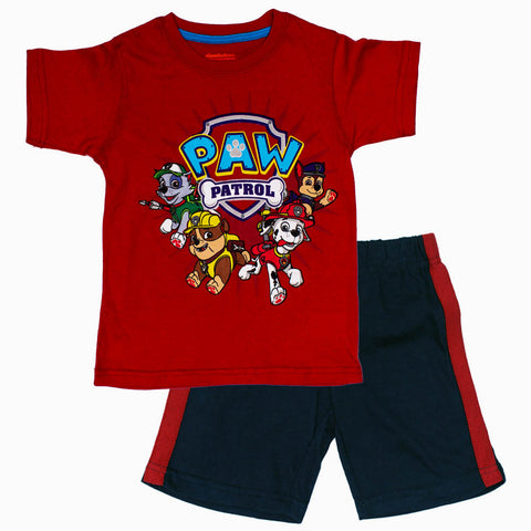 Paw Patrol Boys Red and Navy 2 Piece Set