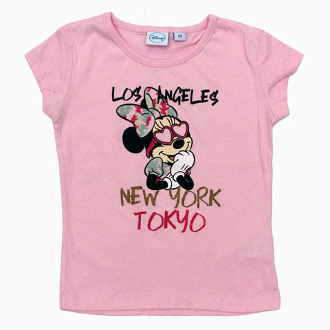 Disney Minnie Travel Pink Girls Tshirt