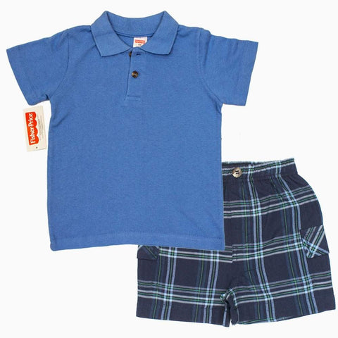Fisher Price Blue Polo 2 Piece Set