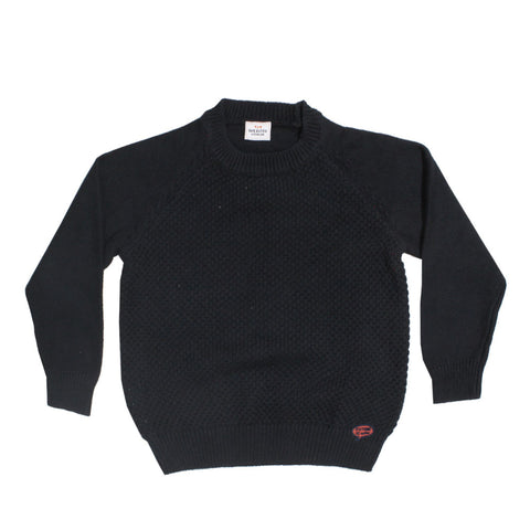 TAPE A LOEIL Premium Cotton Navy Blue Sweater