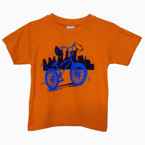 Anna Philip Bicycle Orange boys tshirt