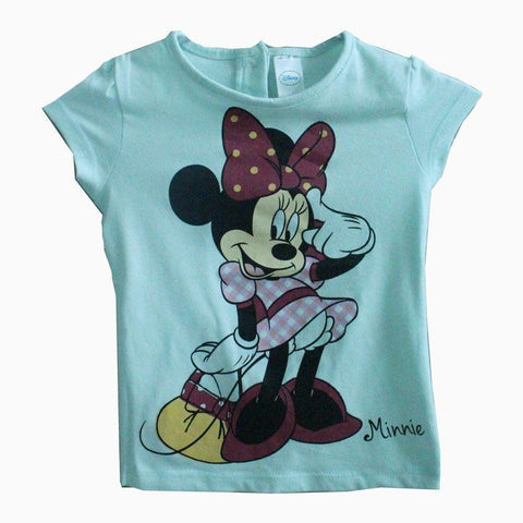 Disney Minnie Mouse Light green girls tshirt
