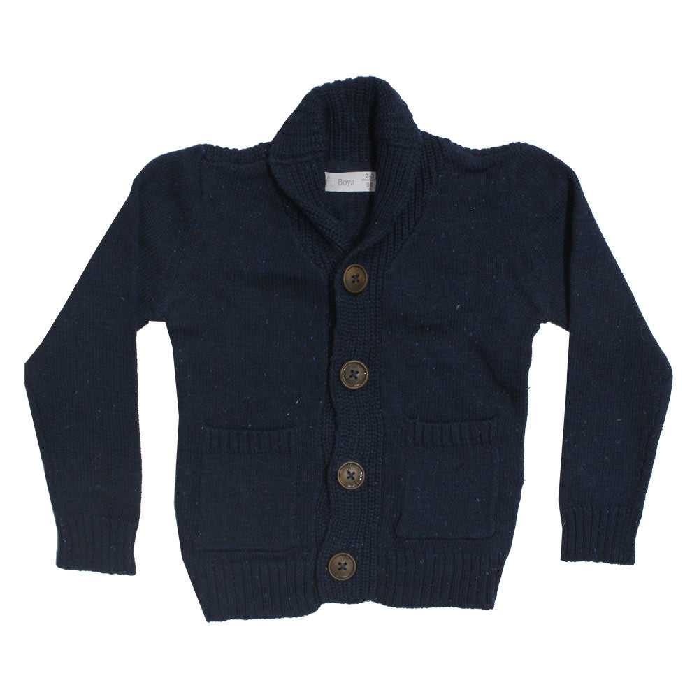 LFT Boys Slub Cotton Blue Premium Cotton Sweater