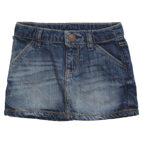BABY GAP Slant Pockets Moderate Washed Denim Skirt