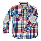 OSHKOSH Purple and Blue Big Checks Premium Cotton Casual Shirt