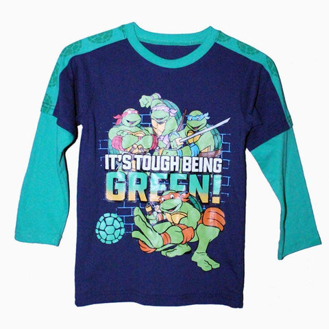 Its Tough being green TMNT Boys Full sleeves tshirt