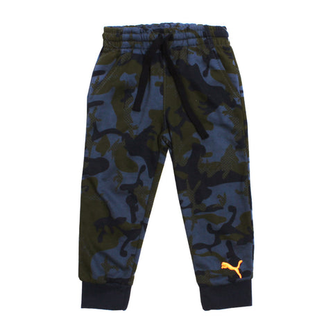 PUMA Blue Camouflage Print Cotton mix  Trouser