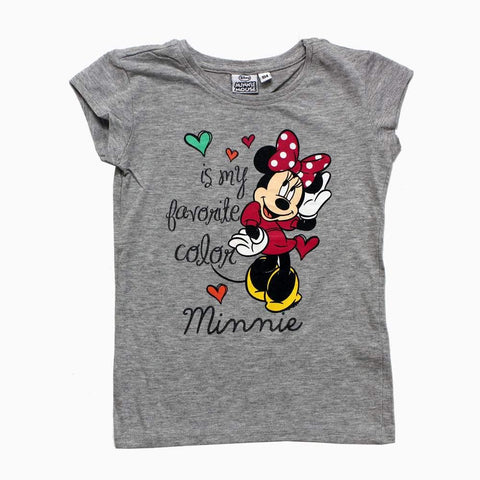 Minnie Favourite Color Grey Girls Tshirt
