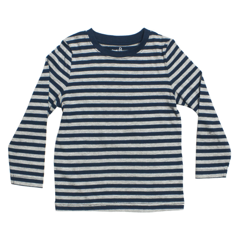 ABCD Grey and Blue Stripes Premium Cotton Tshirt
