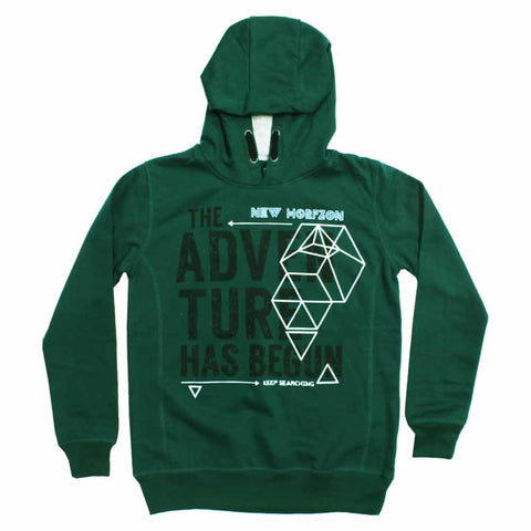 YFK Adventure Begun Cotton Fleece Kangaroo Hoodie