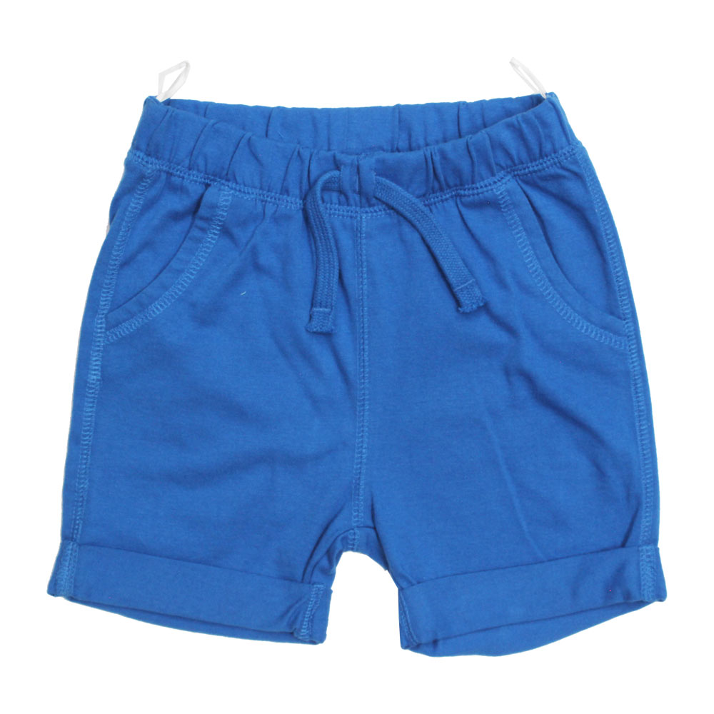 BABY CLUB Blue Draw String Blue Premium Cotton Shorts