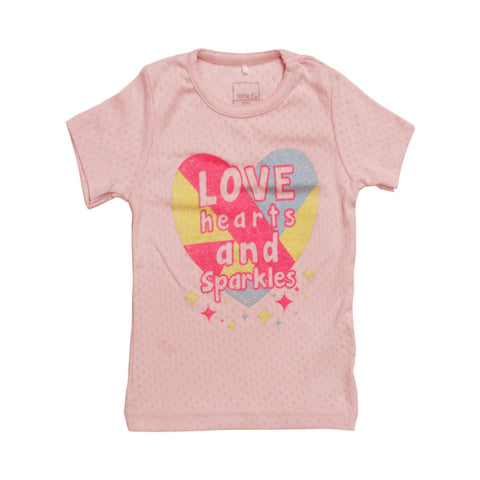 Name It love hearts & sparkles Pink T-shirt
