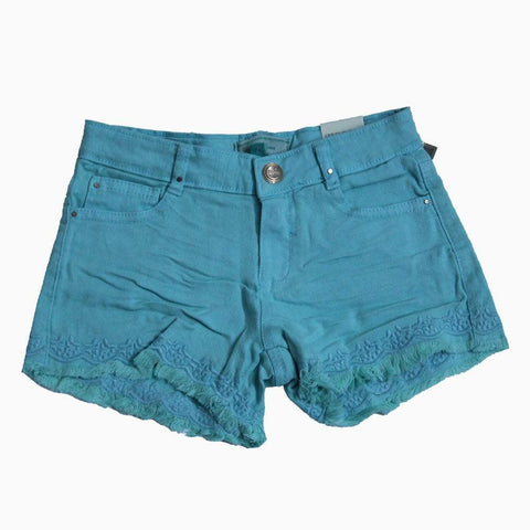 Myoral Blue embroidered shorts