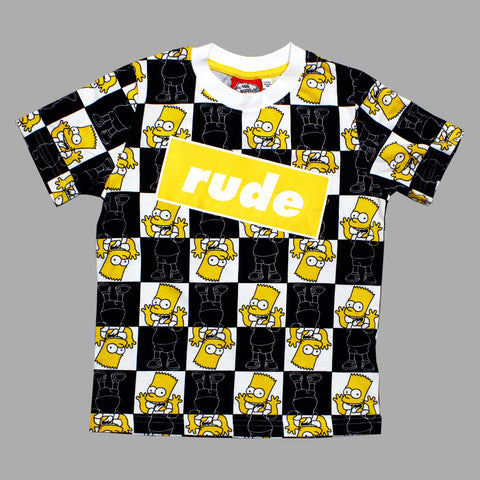 Bart Simpsons Rude All over Print Premium Cotton Tshirt