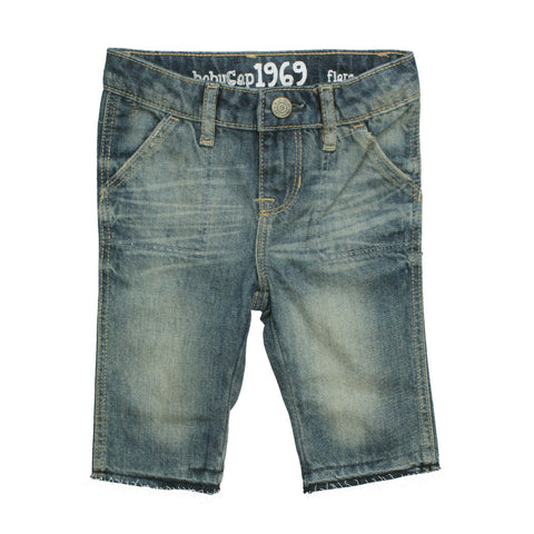 BABY GAP Flare Bottom Soft Denim 3 Quarter Shorts