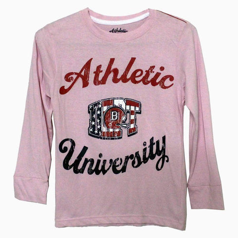 Athletic University full sleeves Girls Tshirt