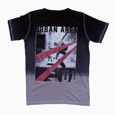 Urban Area Special Treated Cotton Boys Grey Tones Tshirt