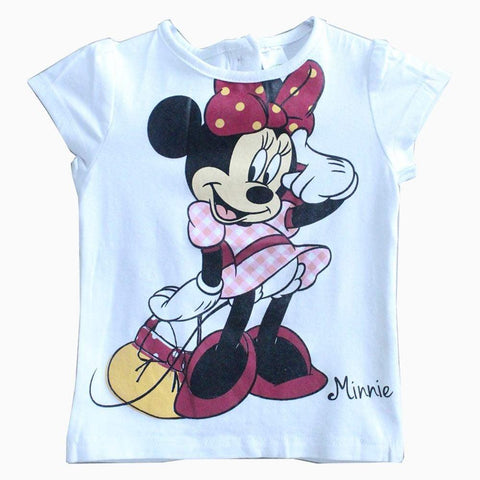 Disney Minnie Mouse White girls tshirt