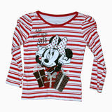 Disney the perfect gift minnie mouse white & red t shirt girl