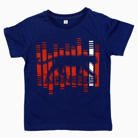 Navy Blue jaguar Print Boys Tshirt