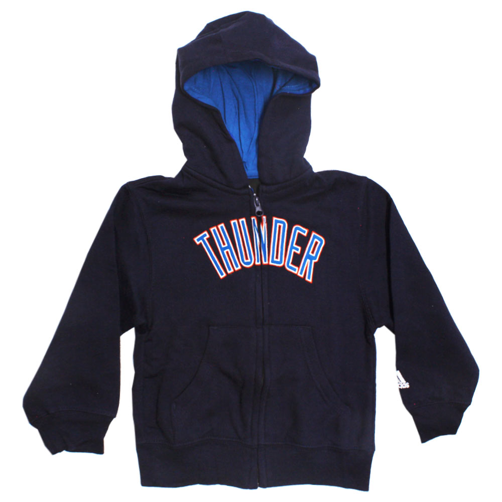 ADIDAS Thunder Embroidery Navy Blue Boys Cotton Hoodies