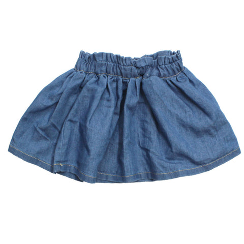 LANIDOR Denim Soft Blue Denim Skirt