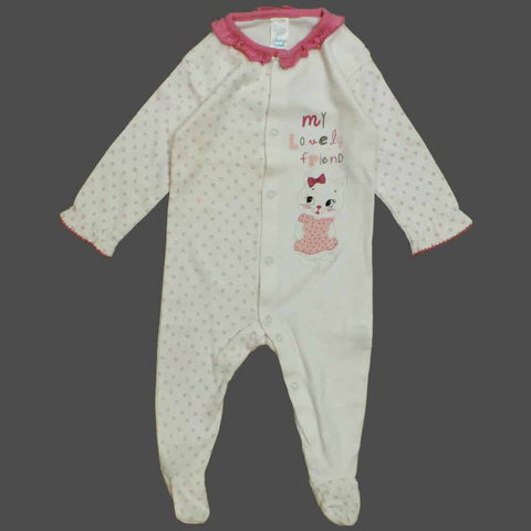 BABY CLUB Lovely Friend Girls Cotton Sleep Suit