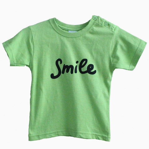 Green Smile unisex kids Tshirt