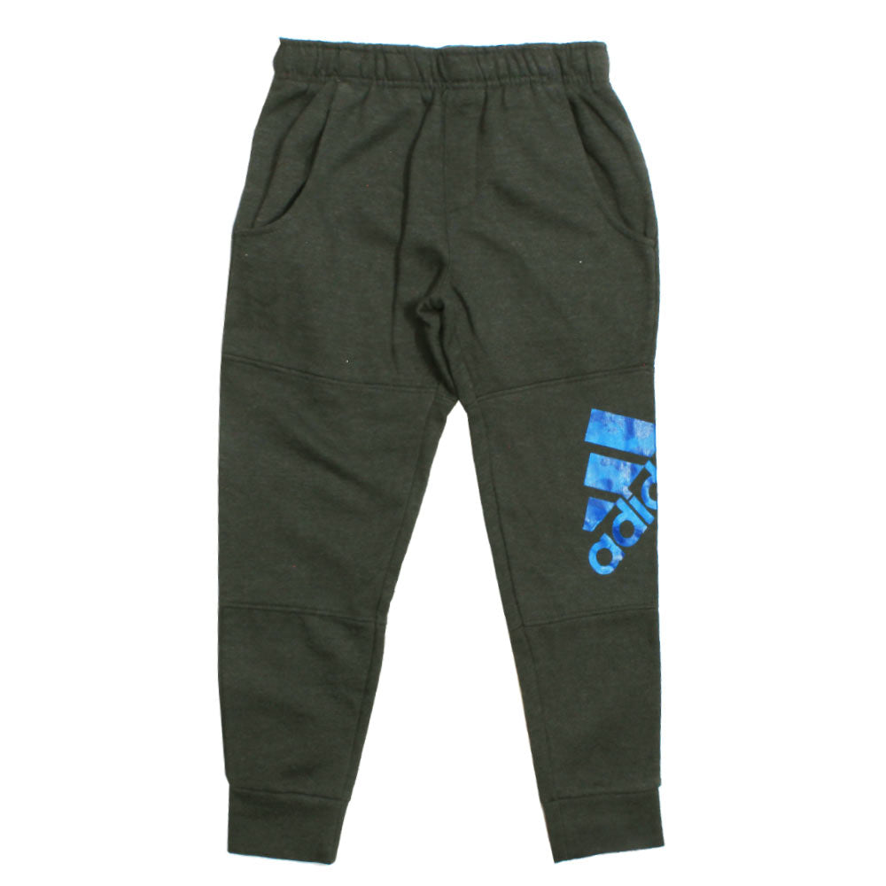 ADIDAS Side Blue Print Grey Fleece Trouser