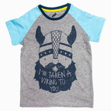 TILT Viking Boys Raglan Sleeves Blue and grey Boys Tshirt