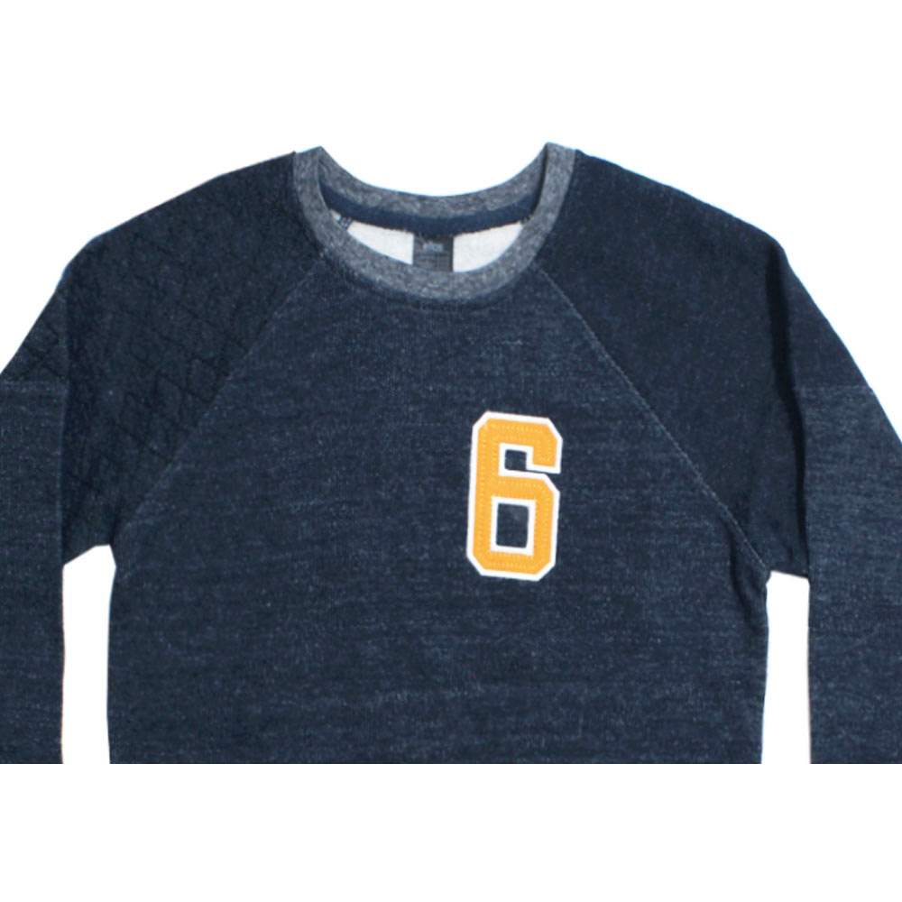 ELLOS 6 Embroidery Blue Boys Cotton Sweat Shirt