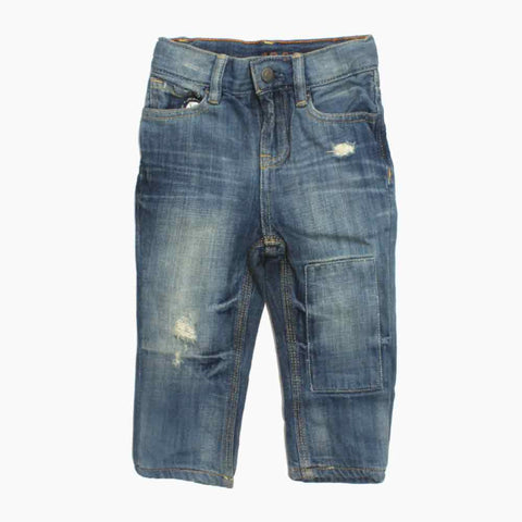 BABY GAP Ripped and Patched Boys Denim Light Blue Jeans