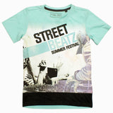 Chapter Young Street Beats High Fashion Light Green Boys Tshirt