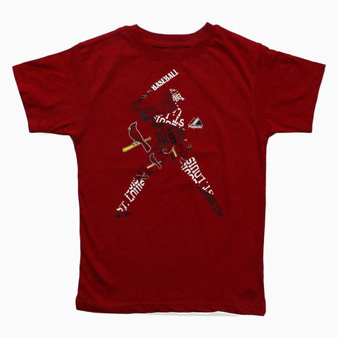 Red Baseball Letter design Print Boys Tshirt