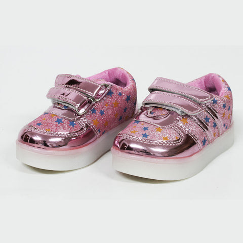All over Glitter Stars Pink Girls Shoes
