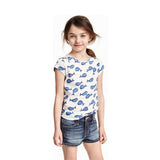 HnM Premium Ultra Soft Cotton Girls Allover Blue Whale Tshirt