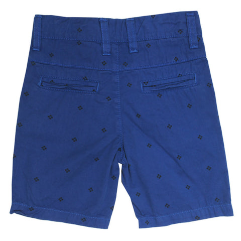 MITCH Abstract Print Blue Boys Cotton Short