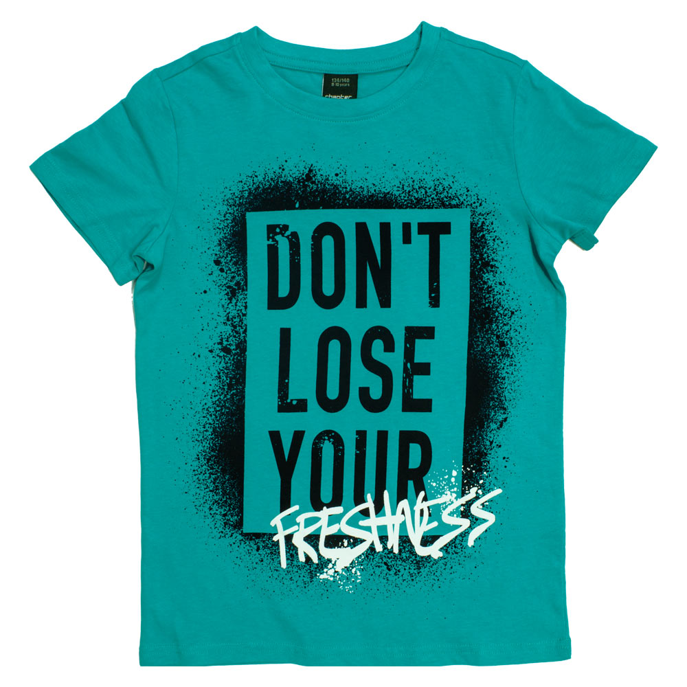 CHAPTER YOUNG Freshness Turquoise Boys Premium Cotton Tshirt